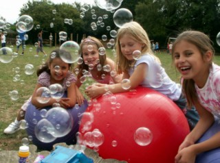 Children with Bubbles